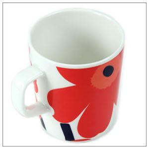 marimekko (マリメッコ) UNIKKO MUG ウニッコ柄 マグカップ 250ml ホワイト×レッド 63431-001 WH/RD