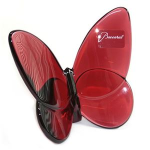 Baccarat (バカラ) PAPILLON (パピヨン・ラッキーバタフライ) お薦めギフト  気品のある躍動感 幸せを運ぶモーチーフ (ルビーレッド) 2104322