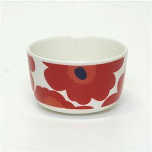 marimekko (マリメッコ) UNIKKO BOWL ウニッコ柄 ボウル 250ml デザートやサラダなどを入れるのに便利  ホワイト×レッド 63432 1 White/Red