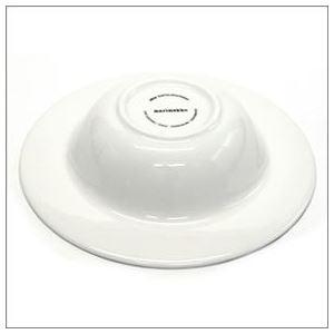 marimekko (マリメッコ) SIIRTOLAPUUTARHA DEEP PLATE 20cm 66683 190 white/black 手描き風ドットデザイン ディーププレート スープ皿