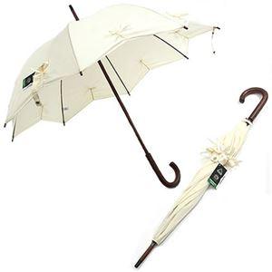 Fulton (フルトン) L776 27530 Kensington-1 Star Cream 星型デザイン&リボン 長傘 手動 スティック傘 アンブレラ