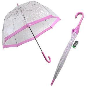 Fulton (フルトン) L042 31483 Birdcage-2 Pink Polka バードケージ ビニール傘 長傘 エリザベス女王ご愛用モデル 鳥かごのようなドーム型のフォルムが魅力的なアンプレラ