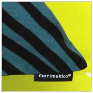 marimekko (マリメッコ) SIIRTOLAPUUTARHA CUSHION COVER 50X50cm シィールトラプータルハ 菜園モチーフ クッションカバー 63879 160 white/green/black