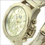ARMANI EXCHANGE (アルマーニ エクスチェンジ) 人気のゴールドカラー スタイリッシュでビジネスユースもお薦めのメンズ・クロノグラフ・ウオッチ AX1504