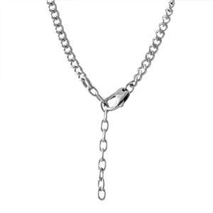DIESEL(ディーゼル) DX1053040 レザー&チェーン メンズ ネックレス ペンダント ブレイブマン(モヒカン)