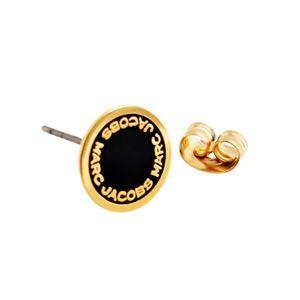 MARC JACOBS(マークジェイコブス ) M0008544-062 Black/Oro ロゴ ディスク エナメル スタッド ピアス Logo Disc Enamel Studs