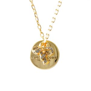 MARC JACOBS(マークジェイコブス ) M0013247-710 Gold コイン リボン ペンダント ネックレス MJ Coin Bow Pendant