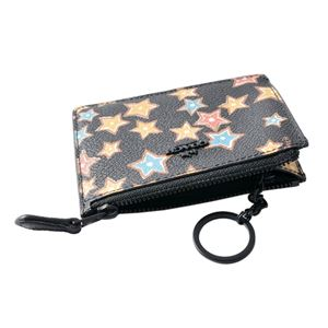 COACH(コーチ) 13678 Mw/Black Multi(MWBLC) スターライト プリント パスケース 小銭入れ・キーリング付 マルチケース STAR RIGHT PRINT MINI SKINNY ID CASE