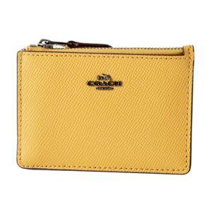 COACH(コーチ) 57841 Dk/Yellow Gold(DKEBV) パスケース 小銭入れ・キーリング付 マルチケース MINI SKINNY ID CASE