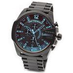 DIESEL(ディーゼル) メンズ 腕時計 人気のデカ系クロノグラフウオッチ 見る角度で色見が変化するホログラム・クリスタル DZ4318