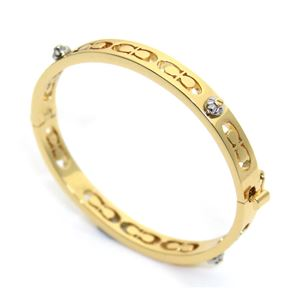 COACH(コーチ) 58926 Gold (GLD) デイジー リベット ピアスド キッシング C ヒンジド バングル ブレスレット
