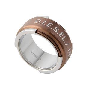 DIESEL(ディーゼル) DX1097040/ 8.0 ロゴ メンズ リング 指輪 8号 (日本サイズ15.5号相当)