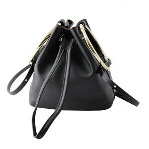 Maison Boinet(メゾンボワネ) 97077G-169-04 Black リングハンドル 巾着型 2WAY ミニバッグ ショルダーバッグ S