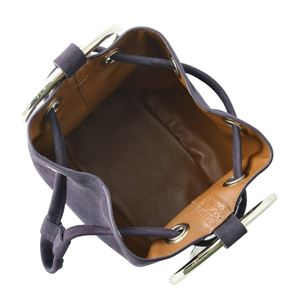 Maison Boinet(メゾンボワネ) 97078G-174-147 Blackcurrant リングハンドル 巾着型 2WAY ミニバッグ ショルダーバッグ S