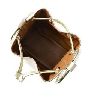 Maison Boinet(メゾンボワネ) 97086G-220-92 Light gold リングハンドル 巾着型 2WAY ミニバッグ ショルダーバッグ S