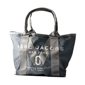 MARC JACOBS(マークジェイコブス) M0011222-023 Graphite ミリタリーロゴプリント トートバッグ スモール A4サイズ対応 New Logo Small Tote