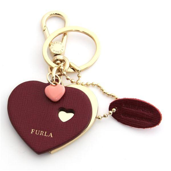 FURLA(フルラ) 921673 CILIEGIA RG57 MTS ハートモチーフ キーリング バッグチャーム VENUS KEYRING DOPPIO CUORE