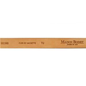 Maison Boinet(メゾンボワネ) 90398-79-08-80 Burgundy ピンバックル金具 レザー ベルト 20mm 牛革ベルト