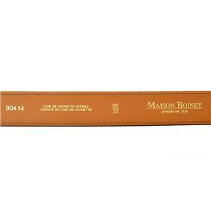 Maison Boinet(メゾンボワネ) 90414-79-04-80 Black レザー ベルト 30mm 牛革 ベルト