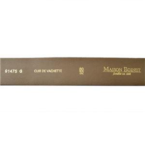 Maison Boinet(メゾンボワネ) 91475G-79-77-80 Qabardine リングバックル ラウンドバックル レザー ベルト 35mm 牛革 ベルト