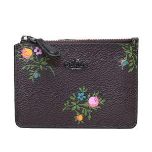 COACH(コーチ) 23518 Dk/Oxblood Cross Stitch Floral (DKMXP) フラワープリント パスケース 小銭入れ・キーリング付 マルチケース MINI SKINNY ID CASE
