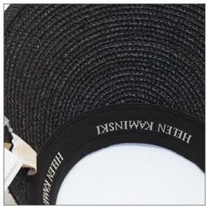 HELEN KAMINSKI(ヘレンカミンスキー) Bianca/Charcoal/Black Logo ≪2015SS≫ビアンカ UPF50+ クリップ サンバイザー ラフィア製ハット レディス帽子