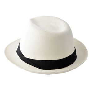 HELEN KAMINSKI(ヘレンカミンスキー)XY HELEN KAMINSKI Emosi Chalk/Black ≪2018SS≫エモシ UPF50+ クラシック フェドーラハット パナマハット メンズ中折れ帽子 Lサイズ