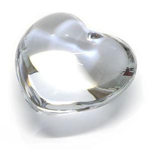 Baccarat(バカラ) クリアクリスタル製ハート オーナメント 可愛いくてキュート☆コロンとしたフォルムのハート ペーパーウェイト 1761531 Puffed Hearts Clear