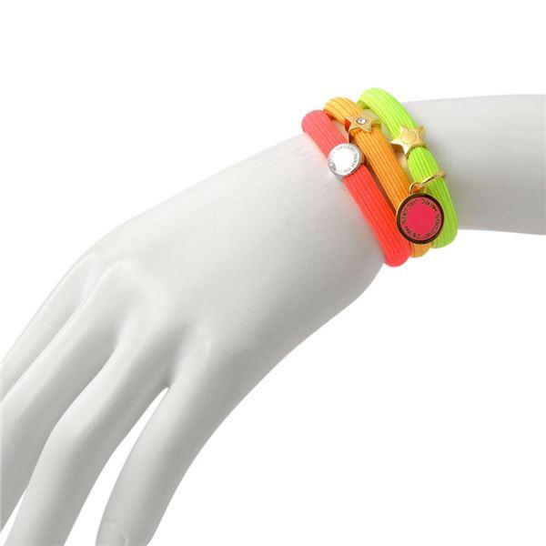 MARC JACOBS (マークジェイコブス) M0012896-951 Neon Pink Multi (ネオンピンクマルチ) クラスターポニー ヘアゴム3本セット ブレスレットにも Logo Disc Pony