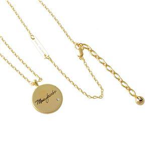 MARC JACOBS (マークジェイコブス) M0014166-710 Gold メダリオン マザーオブ パール リバーシブル ペンダント ネックレス Medallion MOP Double Sided Pendant