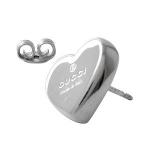 GUCCI (グッチ) 356250-J8400-0702 トレードマーク ロゴ ハート型 スタッド ピアス