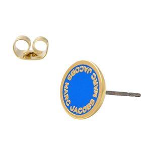 MARC JACOBS (マークジェイコブス) M0008544-406 Sapphire ロゴ ディスク エナメル スタッド ピアス Logo Disc Enamel Studs