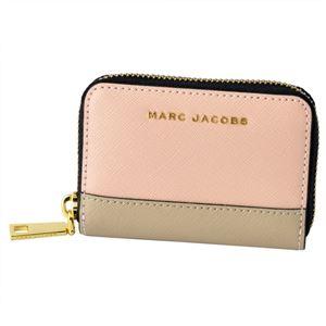MARC JACOBS (マークジェイコブス) M0013675-697 Rose Multi (ローズマルチ) サフィアノ メタル レター カラーブロック カードケース コインケース Saffiano Metal Letters Mini Zip Card