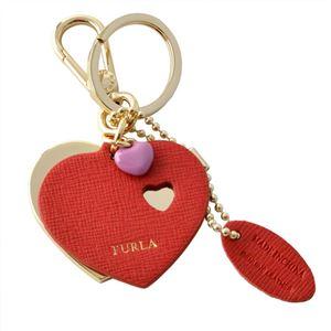 FURLA (フルラ) 940236 RUBY RG57 MTS ハートモチーフ キーリング バッグチャーム VENUS KEYRING DOPPIO CUORE