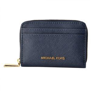 MICHAEL KORS (マイケルコース) 32H7GF6Z5L 414 ADMIRAL (ネイビー)コインケース カードケース JET SET