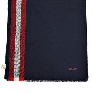 BALLY (バリー) M7D028F-8S040 710 6190738 バリーストライプ ウール スカーフ ストール BLUE NAVY(ネイビー、レッド、ベージュ)