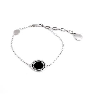 MARC JACOBS (マークジェイコブス) M0008540-068 Black/Argento ロゴ ディスク エナメル ブレスレット Logo Disc Enamel Bracelet