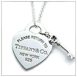 Tiffany (ティファニー) RTT ハート タグ キー ペンダント・ネックレス 16in 26909686