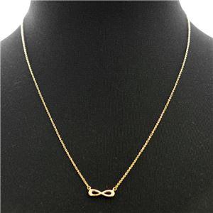 Tiffany (ティファニー) 37955434 インフィニティ ペンダント ミニ (18KYG) ネックレス 41~46cm