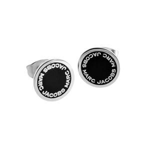 MARC JACOBS (マークジェイコブス) M0008544-068 Black/Argento ロゴ ディスク エナメル スタッド ピアス Logo Disc Enamel Studs