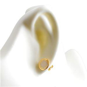 MARC JACOBS (マークジェイコブス) M0008544-106 Cream ロゴ ディスク エナメル スタッド ピアス Logo Disc Enamel Studs