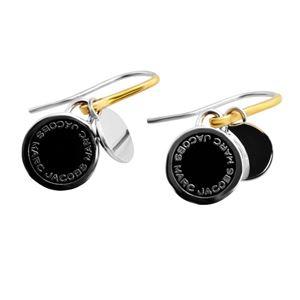 MARC JACOBS (マークジェイコブス) M0008541-068 Black/Argento Enamel Logo Disc Earrings ロゴ ディスク エナメル ピアス