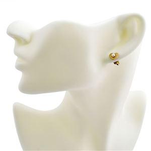MARC JACOBS (マークジェイコブス) M0008660-795 Antique Gold Hearts Studs ロゴ パール ハート スタッド ピアス
