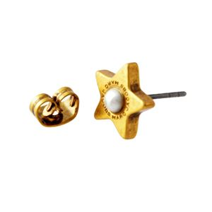 MARC JACOBS (マークジェイコブス) M0009237-117 Cream/Antique Gold ロゴ パール スター 星モチーフ スタッド ピアス Charms Flat Pearl Star Studs