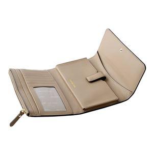 MICHAEL KORS (マイケルコース) 32T8TF6E2L 208 Truffle MKロゴ パスケース付 二つ折り長財布