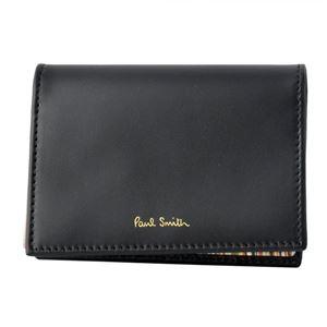 Paul smith (ポールスミス) 4776 W761A 79 Black カードケース 名刺入れ マルチストライプ
