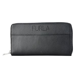 FURLA (フルラ) 938277 ONYX メンズ ラウンドファスナー長財布 パンチング加工ロゴ ULISSE