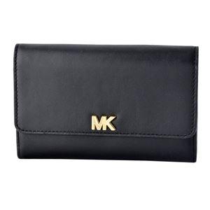 MICHAEL KORS (マイケルコース) 32S8GF6E2L 001 Black MKロゴ パスケース付 二つ折り長財布