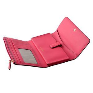 MICHAEL KORS (マイケルコース) 32S8GF6E2L 653 Rose Pink MKロゴ パスケース付 二つ折り長財布