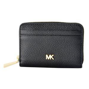 MICHAEL KORS (マイケルコース) 32T8GF6Z1L 001 Black MKロゴ ジップアップ コイン カード ケース